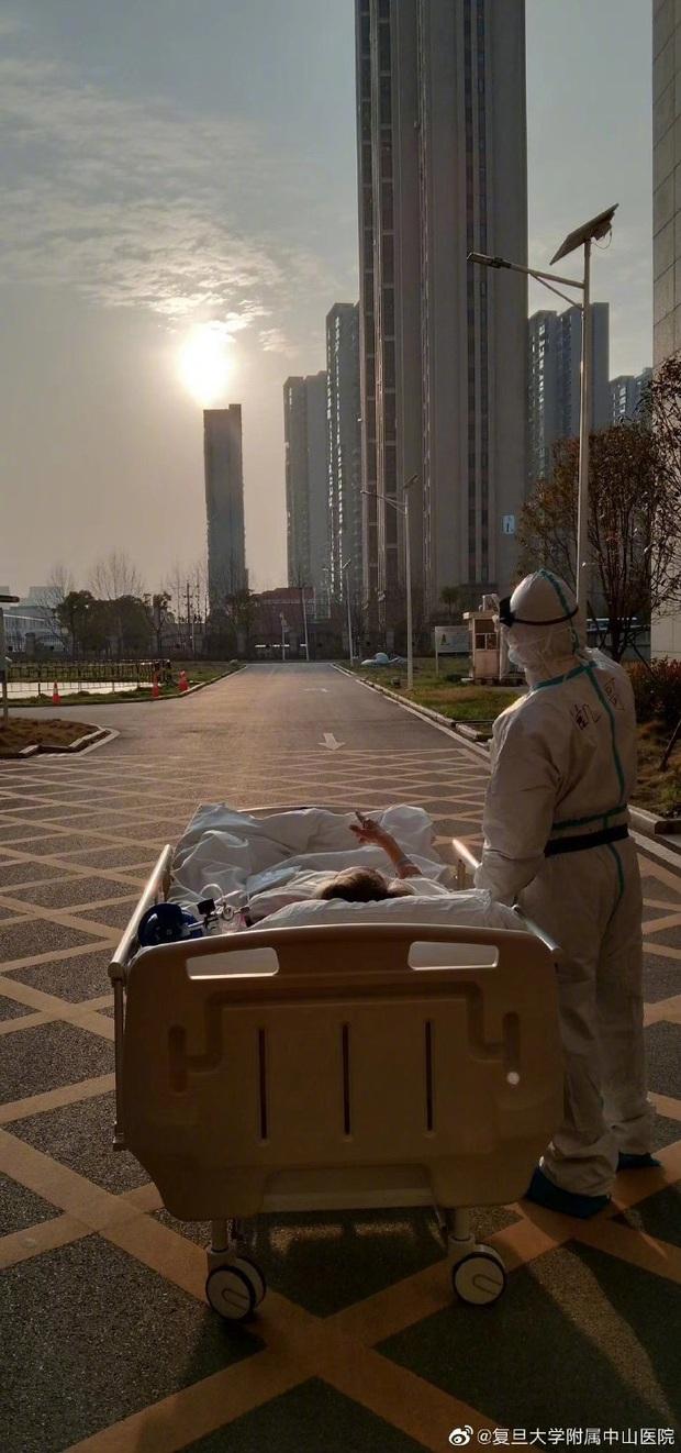 Khoảnh khắc bác sĩ và bệnh nhân nhiễm virus corona ở Vũ Hán cùng ngắm hoàng hôn lay động trái tim cộng đồng mạng - Ảnh 1.
