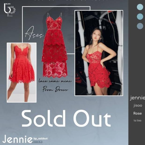 """Thành tích sold out của Black Pink xuân này: Sốc nhất là đầm ren đỏ 11 triệu mặc cực khó sang vẫn """"tẩu tán"""" nhanh lẹ nhờ Jennie - Ảnh 3."""