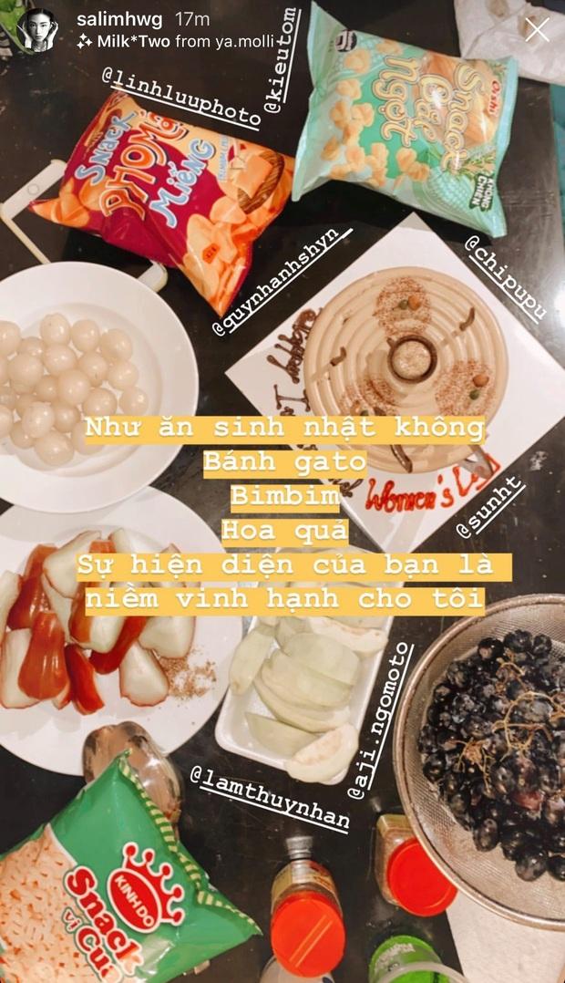 Hội bạn thân cùng độc thân của Chi Pu, Quỳnh Anh Shyn, Salim, Sun HT rủ nhau ăn mừng tại gia: tiệc tùng 8/3 gì mà như sinh nhật tuổi ấu thơ thế này? - Ảnh 2.