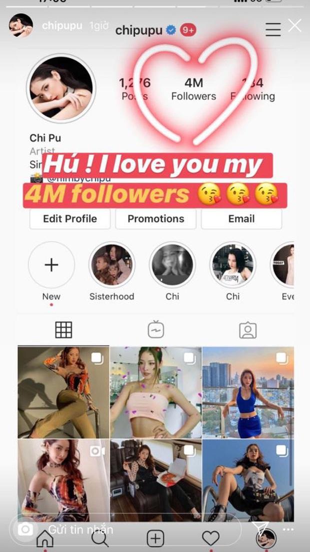 Trở thành nghệ sĩ Việt thứ 2 cán mốc 4 triệu follow trên Instagram, Chi Pu đã có pha ăn mừng cực lầy thế này đây! - Ảnh 2.