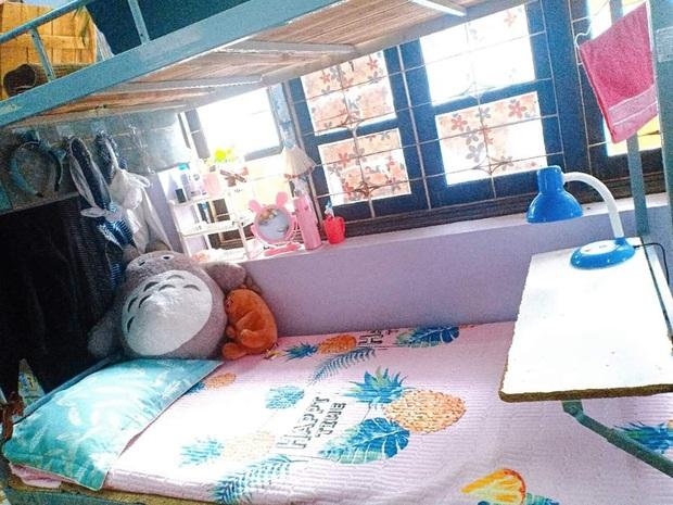Nữ sinh chỉ tốn 1 triệu để biến góc giường ở kí  túc xá lung linh như studio: Nhìn mà không tin được luôn! - Ảnh 1.