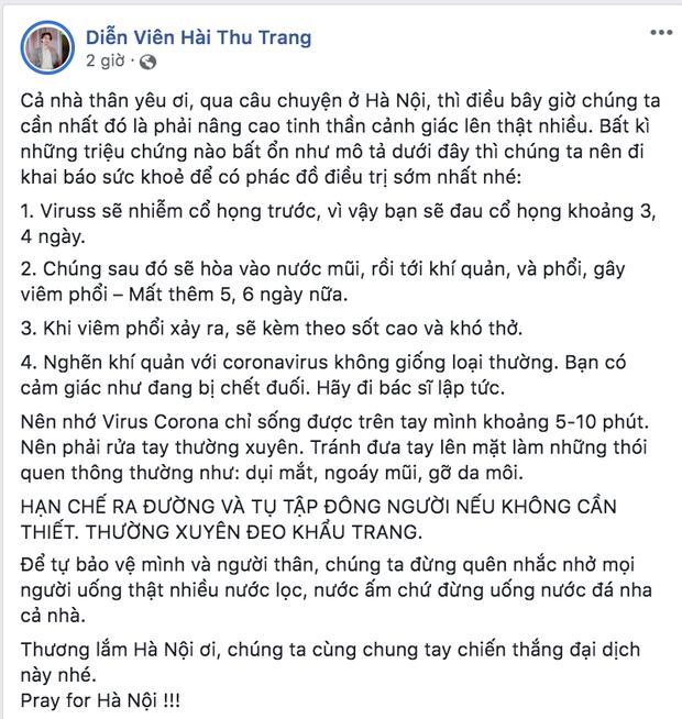 Dàn sao Việt trấn an công chúng khi Việt Nam xuất hiện ca nhiễm Covid-19 thứ 17: Trấn Thành và Thu Trang đáng chú ý nhất! - Ảnh 3.
