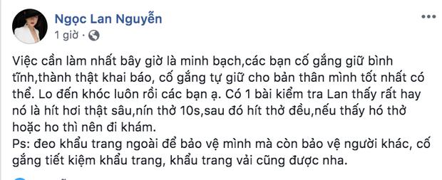 Dàn sao Việt trấn an công chúng khi Việt Nam xuất hiện ca nhiễm Covid-19 thứ 17: Trấn Thành và Thu Trang đáng chú ý nhất! - Ảnh 7.