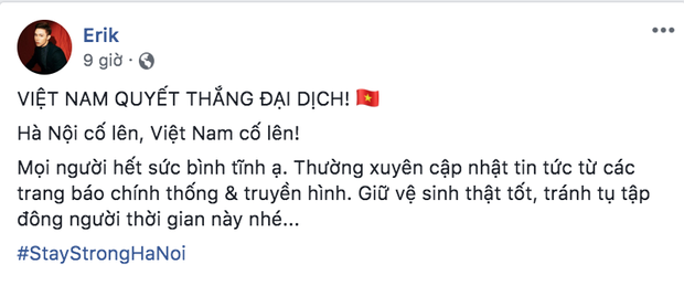 Dàn sao Việt trấn an công chúng khi Việt Nam xuất hiện ca nhiễm Covid-19 thứ 17: Trấn Thành và Thu Trang đáng chú ý nhất! - Ảnh 11.