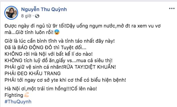 Dàn sao Việt trấn an công chúng khi Việt Nam xuất hiện ca nhiễm Covid-19 thứ 17: Trấn Thành và Thu Trang đáng chú ý nhất! - Ảnh 9.