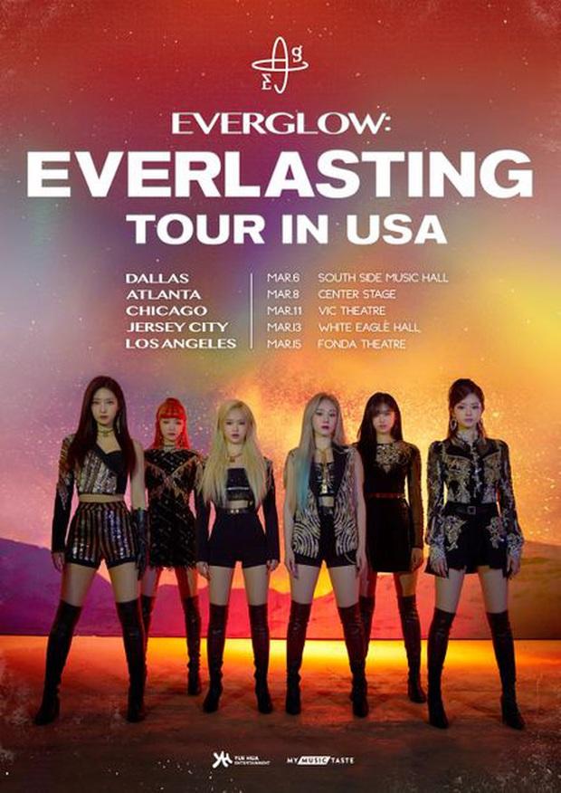 EVERGLOW nhảy cover Ddu-Du Ddu-Du trong tour diễn tại Mỹ, không ngại cái danh cosplay BLACKPINK mà muốn hoá thành BLACKPINK thật luôn? - Ảnh 1.