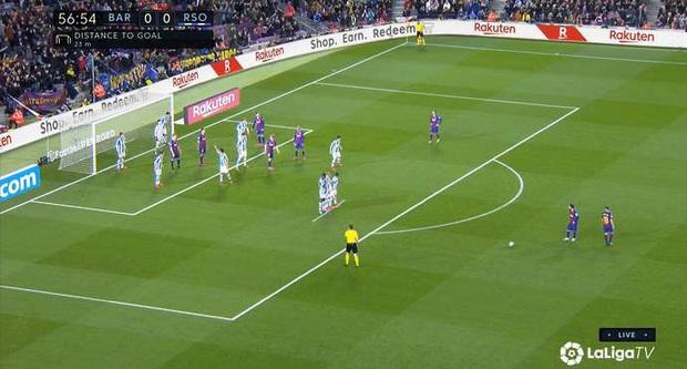 Đội bóng Tây Ban Nha dày công sáng tạo ra cách dựng hàng rào mới để cản Messi, fan tặc lưỡi: Thế mới thấy M10 kiệt xuất đến mức nào - Ảnh 1.