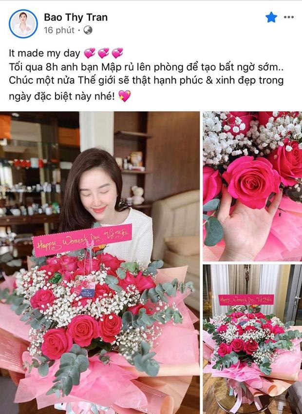 Diệp Lâm Anh khéo nịnh mẹ chồng, Khánh Vân tự tay làm thiệp cùng dàn sao Vbiz hào hứng khoe quà nhân ngày Quốc tế Phụ nữ 8/3 - Ảnh 8.