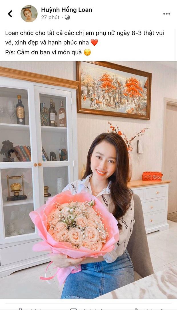 Huỳnh Hồng Loan vừa khoe được tặng hoa ngày 8/3, Tiến Linh lập tức yêu cầu nói rõ tên người gửi để khẳng định chủ quyền - Ảnh 2.