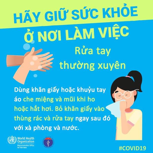 Tổ chức Y tế Thế giới (WHO) phối hợp với Bộ Y tế đưa ra những lưu ý cần thiết khi đi làm để phòng chống COVID-19 - Ảnh 3.