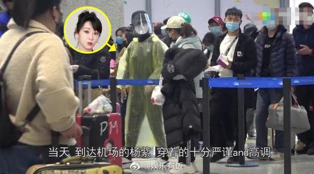 Dương Tử gây bão với thời trang sân bay áo mưa, khẩu trang phòng chống dịch bệnh COVID-19 kín mít từ đầu tới chân - Ảnh 8.