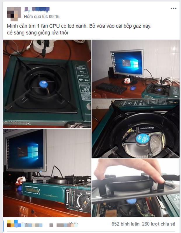 Chết cười với bộ PC bếp ga mini do chính game thủ Việt lắp ráp - Ảnh 1.
