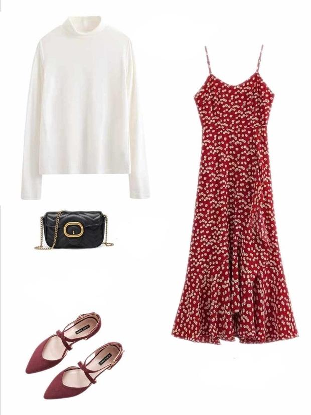10 set đồ với váy hai dây giúp các nàng mặc xinh hết cỡ khi thời tiết chuyển mùa - Ảnh 1.