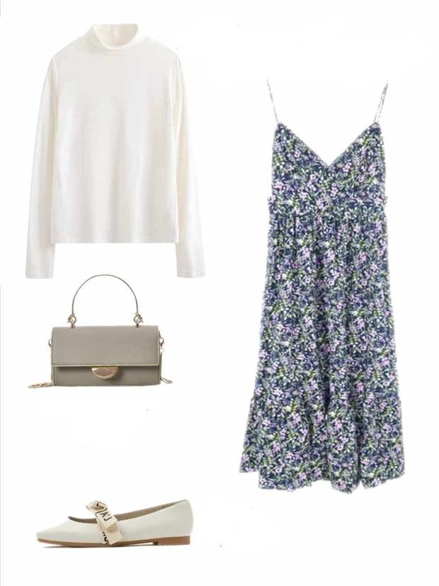 10 set đồ với váy hai dây giúp các nàng mặc xinh hết cỡ khi thời tiết chuyển mùa - Ảnh 2.