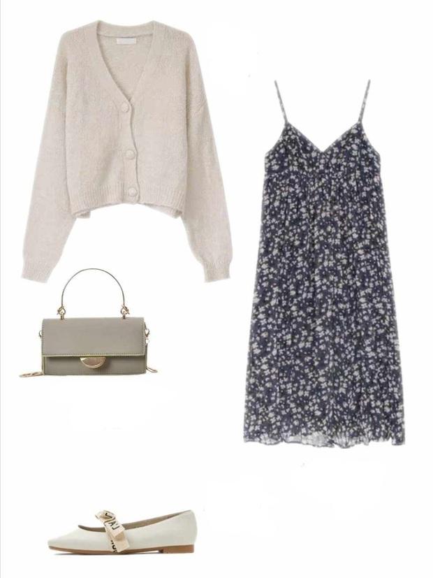 10 set đồ với váy hai dây giúp các nàng mặc xinh hết cỡ khi thời tiết chuyển mùa - Ảnh 3.