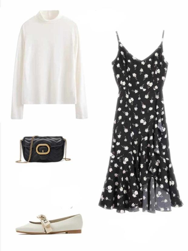 10 set đồ với váy hai dây giúp các nàng mặc xinh hết cỡ khi thời tiết chuyển mùa - Ảnh 4.
