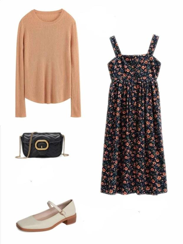 10 set đồ với váy hai dây giúp các nàng mặc xinh hết cỡ khi thời tiết chuyển mùa - Ảnh 5.