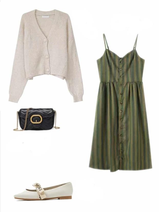 10 set đồ với váy hai dây giúp các nàng mặc xinh hết cỡ khi thời tiết chuyển mùa - Ảnh 6.