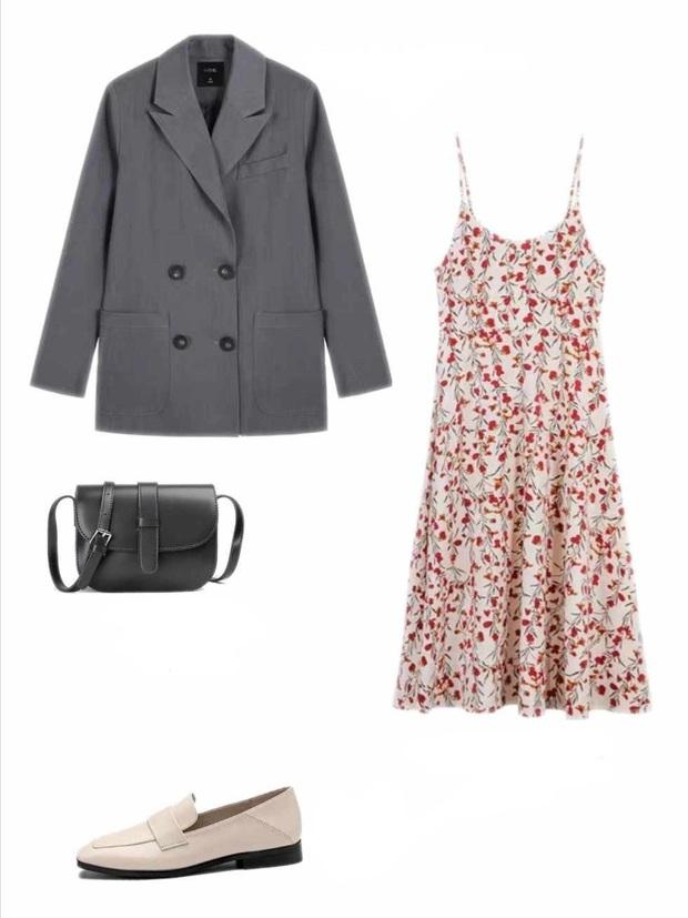 10 set đồ với váy hai dây giúp các nàng mặc xinh hết cỡ khi thời tiết chuyển mùa - Ảnh 7.