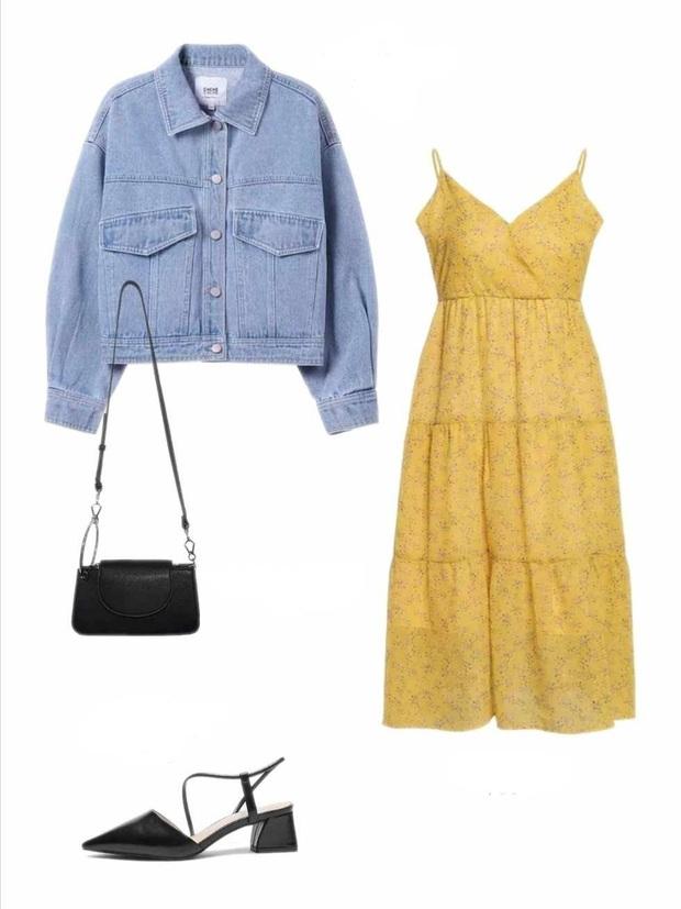 10 set đồ với váy hai dây giúp các nàng mặc xinh hết cỡ khi thời tiết chuyển mùa - Ảnh 8.