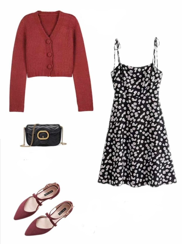 10 set đồ với váy hai dây giúp các nàng mặc xinh hết cỡ khi thời tiết chuyển mùa - Ảnh 9.