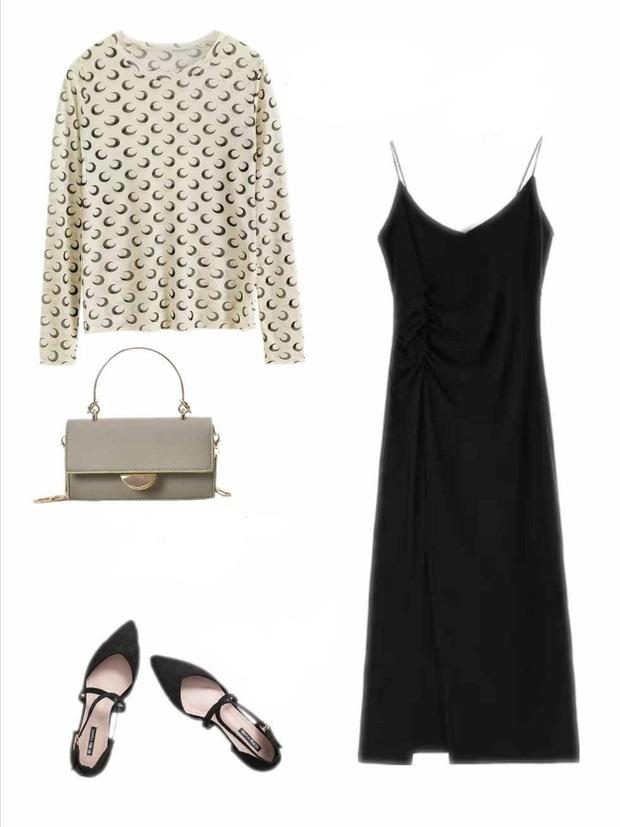 10 set đồ với váy hai dây giúp các nàng mặc xinh hết cỡ khi thời tiết chuyển mùa - Ảnh 10.