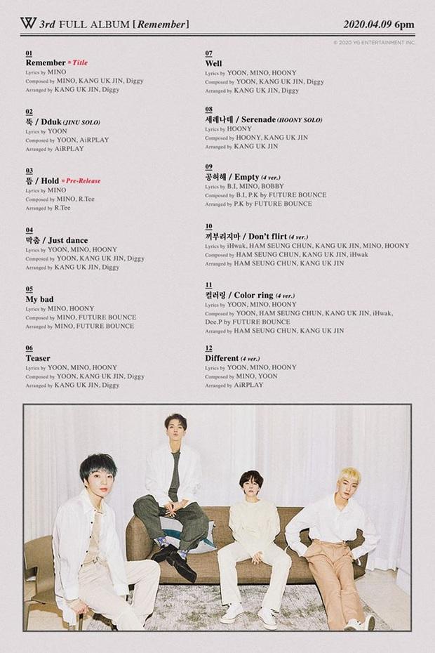Tracklist album mới WINNER: Tiếp tục là sản phẩm cây nhà lá vườn nhưng quyết định triệt tiêu cựu thành viên Taehyun mới gây sốc - Ảnh 2.