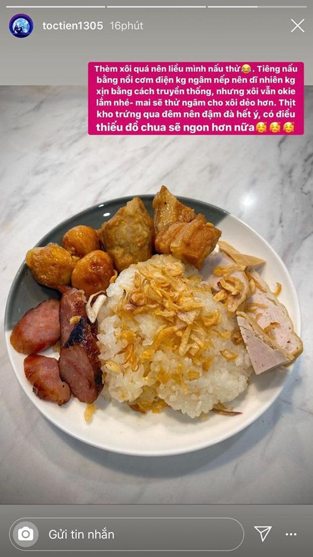Không nhà hàng đắt đỏ, sao Vbiz tiết kiệm với mâm cơm nhà mùa dịch: Tóc Tiên nịnh chồng món ngon, Băng Di nấu bữa chỉ 50K - Ảnh 6.