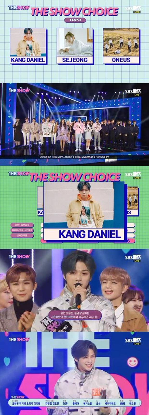 Giành cúp nhưng Center quốc dân Kang Daniel 2 lần bỏ mic không hát, chỉ nhảy trong phần diễn encore: Chẳng lẽ sợ live dở quá hay gì? - Ảnh 1.