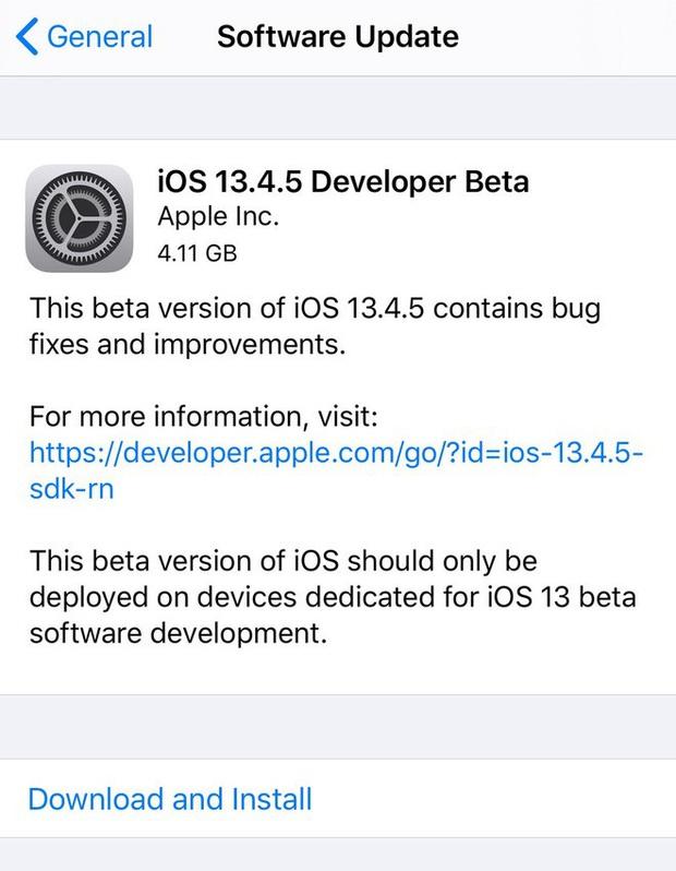 Apple tung ra iOS 13.4.5 Beta, hé lộ về mẫu iPhone sắp ra mắt - Ảnh 1.