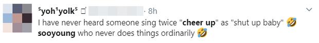Sooyoung (SNSD) lâu lắm mới cầm mic nhưng lại hát siêu hit của TWICE theo phong cách say rượu, đã thế còn chế lời bài hát nghe xong xỉu nhẹ - Ảnh 3.