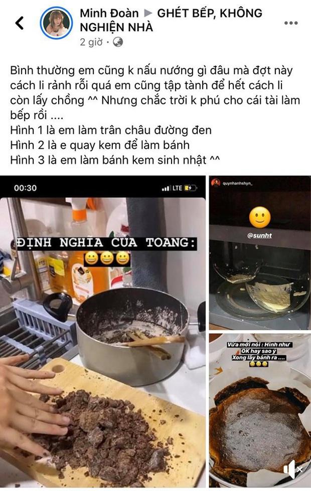 """3 lần nổi hứng nấu nướng giữa đêm đều toang cả 3: Chị em Sun HT - Quỳnh Anh Shyn chính thức gia nhập hội """"Ghét bếp"""" - Ảnh 10."""