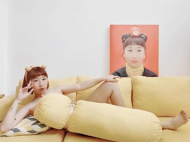 Cả dàn sao Việt, người mẫu, hot girl có chất đến mấy vẫn thua đẹp trước Trang Hý khi cùng đu trend lấy gối làm váy - Ảnh 1.