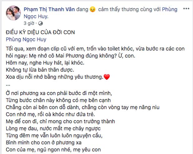 Nhói lòng khi nghe lại ca khúc được Phùng Ngọc Huy thay lời cố diễn viên Mai Phương dành tặng con gái Lavie - Ảnh 2.
