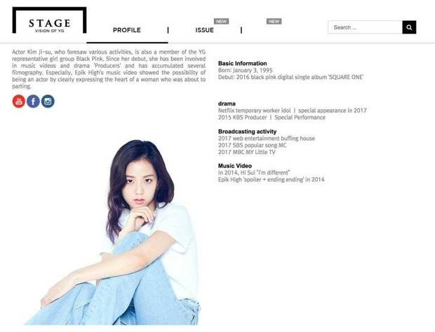 Jisoo (BLACKPINK) bỗng dưng bị xóa tên khỏi trang web YG Stage, fan nháo nhào lại chuyện gì nữa đây? - Ảnh 2.