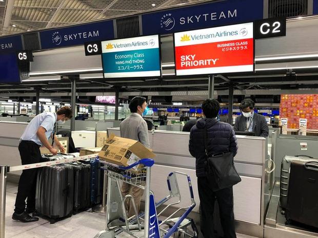 Vietnam Airlines chuyên chở công dân Việt Nam bị mắc kẹt tại sân bay tại Nhật Bản về nước - Ảnh 1.