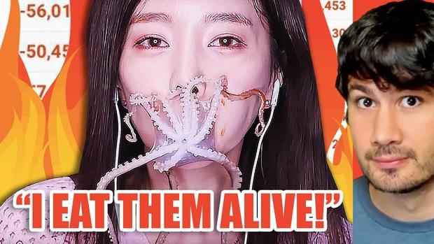 """""""Thánh ăn Hàn Quốc"""" Ssoyoung khiến nhiều YouTuber nổi tiếng phẫn nộ vì hành hạ động vật sống, có người còn yêu cầu cô xoá luôn kênh 3,45tr subscribes - Ảnh 15."""
