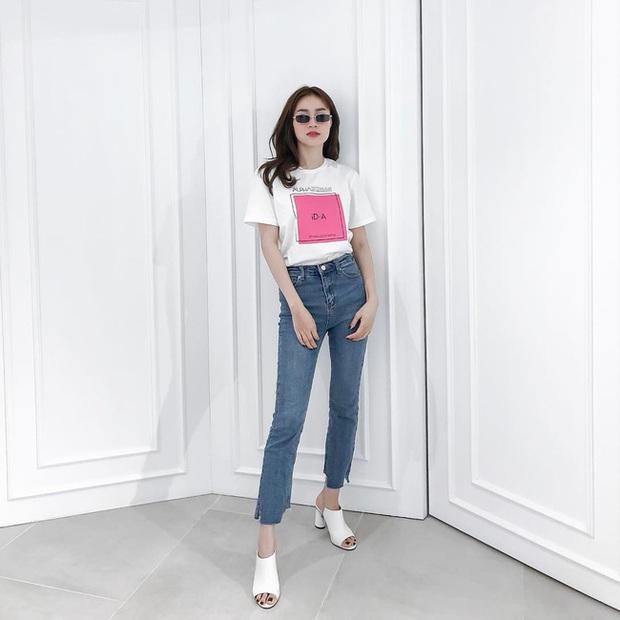 Thước đo thần thái mỹ nhân Vbiz là combo áo trắng quần jeans: Hà Tăng sang chảnh, Ngọc Trinh dáng nuột nhưng đến Minh Hằng mới bất ngờ - Ảnh 5.