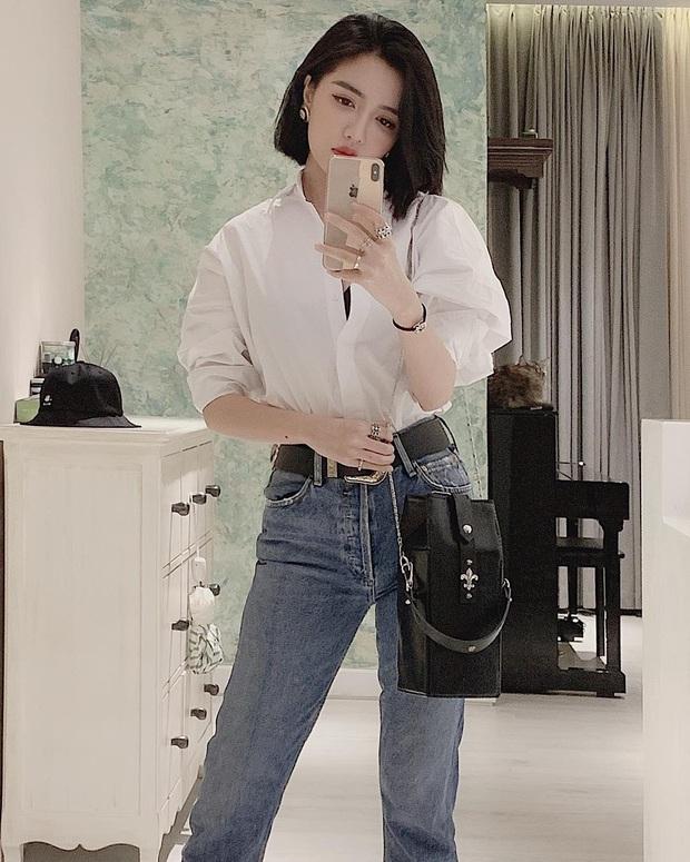 Thước đo thần thái mỹ nhân Vbiz là combo áo trắng quần jeans: Hà Tăng sang chảnh, Ngọc Trinh dáng nuột nhưng đến Minh Hằng mới bất ngờ - Ảnh 9.