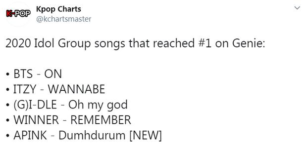 Trở lại với ca khúc của đội tạo hit cho TWICE, Apink đạt ngay No.1 cùng BTS và ITZY, làm khán giả ngất ngây bởi nhan sắc đồng đều - Ảnh 6.