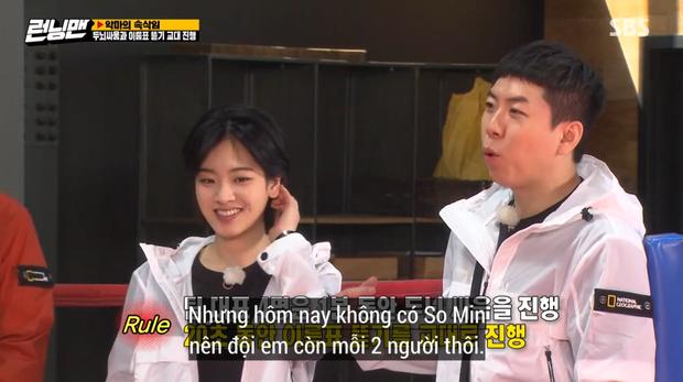 Jeon So Min lộ vẻ mệt mỏi, nép sau lưng Yang Se Chan rồi bất ngờ biến mất khi đang quay Running Man - Ảnh 10.