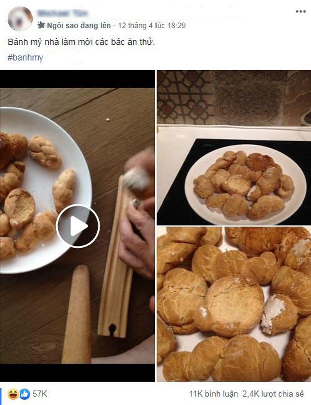 Tự làm bánh mì tại nhà mời mọi người ăn, nhìn tưởng thơm ngon như hóa ra lại cứng đến nỗi mang đi đóng đinh còn được - Ảnh 1.