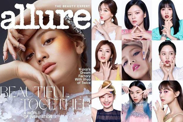 Lên hẳn tạp chí đình đám của Mỹ, Twice bị chê tơi tả vì makeup lạ nhưng lại có duy nhất một người được khen - Ảnh 1.