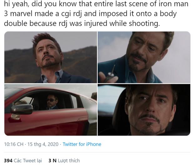 Bí mật gây sốc của Iron Man 3 vừa được tiết lộ: Robert Downey Jr. không thể quay cảnh kết, Marvel làm Người Sắt giả bằng kĩ xảo - Ảnh 1.