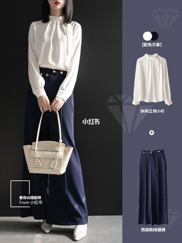 11 cách mặc đẹp với quần ống suông rộng giúp nàng công sở tăng 100% điểm thanh lịch - Ảnh 1.