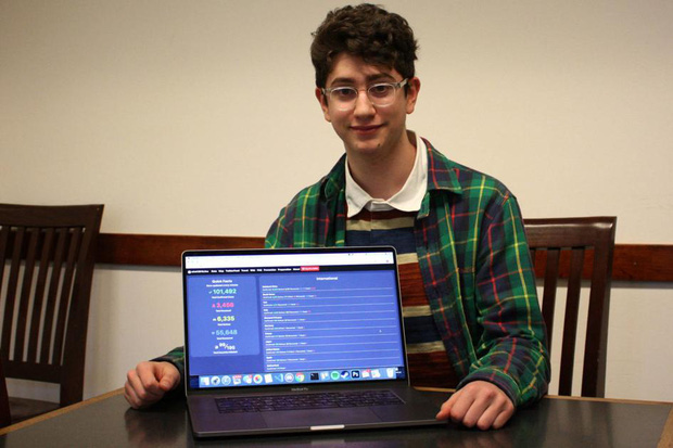 Trai đẹp 17 tuổi xuất chúng giữa đại dịch: Tự làm website chống Covid-19 siêu hot, không thèm nhận 200 tỷ tiền quảng cáo - Ảnh 2.