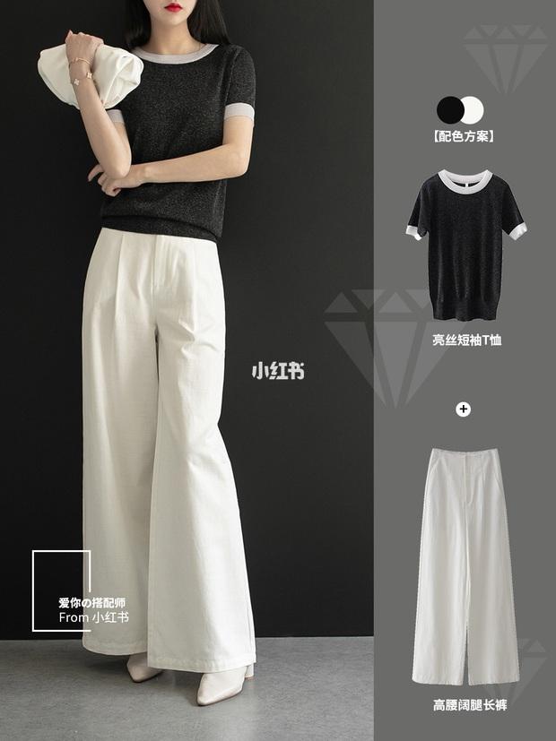 11 cách mặc đẹp với quần ống suông rộng giúp nàng công sở tăng 100% điểm thanh lịch - Ảnh 3.