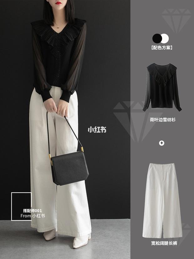 11 cách mặc đẹp với quần ống suông rộng giúp nàng công sở tăng 100% điểm thanh lịch - Ảnh 5.