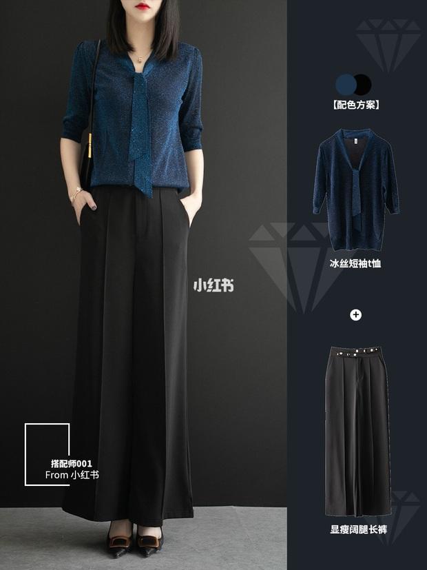 11 cách mặc đẹp với quần ống suông rộng giúp nàng công sở tăng 100% điểm thanh lịch - Ảnh 9.