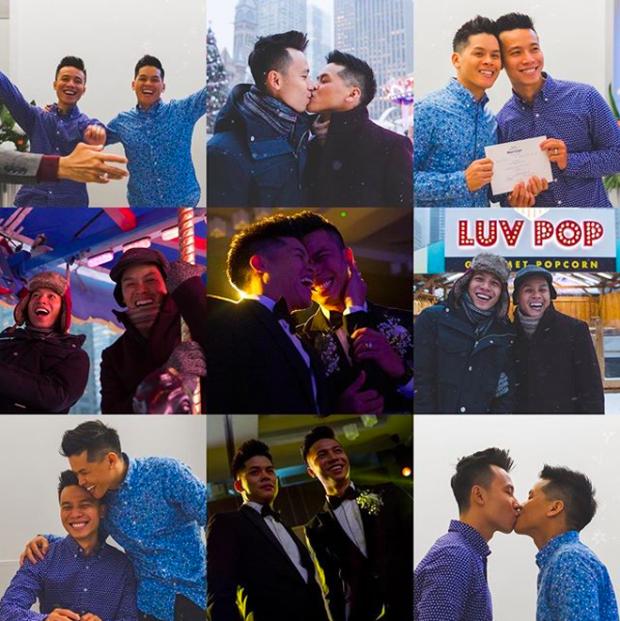 Cặp đồng tính John Huy Trần - Nhiệm Huỳnh gây sốt với loạt ảnh kỷ niệm 2 năm cưới ngọt lịm: Chúng tôi vẫn bền chặt lắm - Ảnh 2.